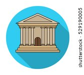 bank icon in flat style... | Shutterstock .eps vector #529190005