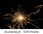 fire sparklers on black... | Shutterstock . vector #529191646