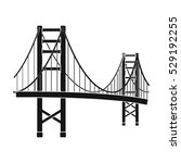 golden gate bridge icon in... | Shutterstock .eps vector #529192255