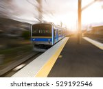 motion blurred of high speed... | Shutterstock . vector #529192546