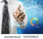 businessman with financial... | Shutterstock . vector #529204822