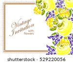 romantic invitation. wedding ...   Shutterstock . vector #529220056