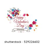 valentines day card. bright... | Shutterstock .eps vector #529226602