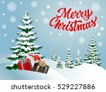 merry christmas lettering and... | Shutterstock .eps vector #529227886