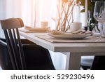 closed up nice dining chair...   Shutterstock . vector #529230496