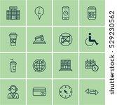 set of 16 transportation icons. ...