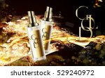 golden cosmetic package with... | Shutterstock .eps vector #529240972