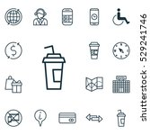 set of 16 transportation icons. ... | Shutterstock .eps vector #529241746