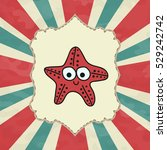 starfish  painted icon | Shutterstock .eps vector #529242742
