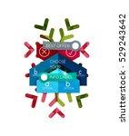 christmas sale info banner ...   Shutterstock .eps vector #529243642