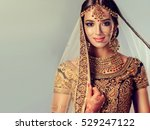 portrait of beautiful indian... | Shutterstock . vector #529247122
