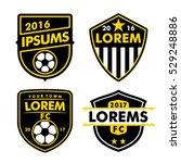 football logo badges set... | Shutterstock .eps vector #529248886
