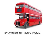 a bright red traditional london ... | Shutterstock . vector #529249222