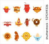 cute fast food character vector ... | Shutterstock .eps vector #529249336