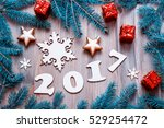 new year background with 2017... | Shutterstock . vector #529254472