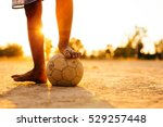 close up picture of an old ball ... | Shutterstock . vector #529257448