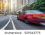 traffic in downtown of hong... | Shutterstock . vector #529263775