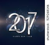 beautiful 2017 happy new year... | Shutterstock .eps vector #529268146