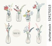 Abstract Flower Bouquets In...