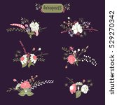 hand drawn isolated floral... | Shutterstock .eps vector #529270342