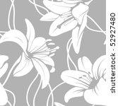 vector lilly seamless pattern | Shutterstock .eps vector #52927480