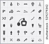 barbershop icons universal set... | Shutterstock . vector #529279342