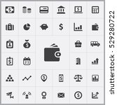 wallet icon. bank icons... | Shutterstock . vector #529280722