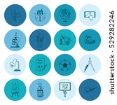 school and education icon set.... | Shutterstock .eps vector #529282246