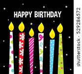 birthday candles | Shutterstock .eps vector #529286572