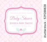 baby shower invitation with... | Shutterstock .eps vector #529288828
