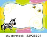 children's frame with a zebra | Shutterstock .eps vector #52928929