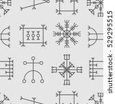 vector seamless pattern with... | Shutterstock .eps vector #529295515