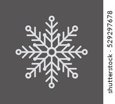 snowflake     icon   isolated.... | Shutterstock .eps vector #529297678