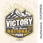 college. trekking. vintage tee... | Shutterstock .eps vector #529299856