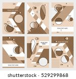 set invitation with geometric... | Shutterstock .eps vector #529299868