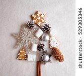 beautiful christmas tree made... | Shutterstock . vector #529305346