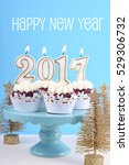 happy new year cupcakes with... | Shutterstock . vector #529306732