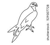 arabian falcon icon. outline... | Shutterstock .eps vector #529307728