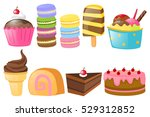 different types of sweet... | Shutterstock .eps vector #529312852
