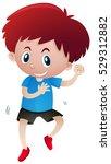 happy boy dancing alone... | Shutterstock .eps vector #529312882