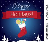 happy holidays | Shutterstock .eps vector #529318966