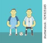 argentina football players | Shutterstock .eps vector #529325185
