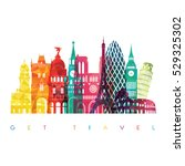 europe skyline detailed... | Shutterstock .eps vector #529325302