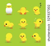 cute chick 3d cartoon character ... | Shutterstock .eps vector #529337302