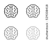 brain    black vector icon | Shutterstock .eps vector #529338418