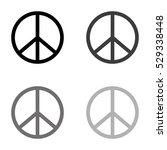 peace sign    black vector icon | Shutterstock .eps vector #529338448