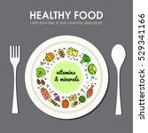 healty food background... | Shutterstock .eps vector #529341166