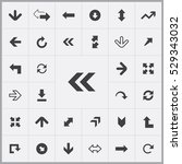 arrows icons universal set for... | Shutterstock . vector #529343032