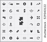 arrows icons universal set for... | Shutterstock . vector #529343122