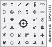 army icons universal set for... | Shutterstock . vector #529343956